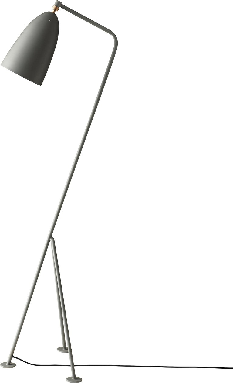Greta Magnusson Grossman 'Grasshopper' Floor Lamp in Warm Gray In New Condition For Sale In Glendale, CA