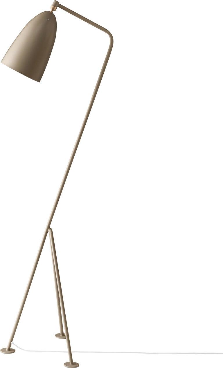 Aluminum Greta Magnusson Grossman 'Grasshopper' Floor Lamp in Yellow For Sale