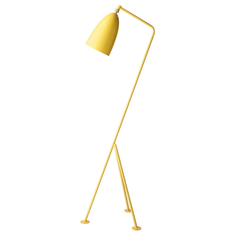 Greta Magnusson Grossman 'Grasshopper' Floor Lamp in Yellow For Sale