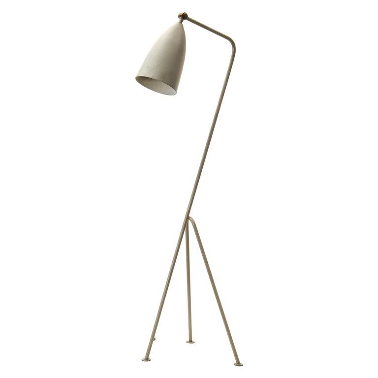 "Greta Magnusson Grossman ""Grasshopper / G-33"" Lamp in Grey for Bergboms, 1950s For Sale"