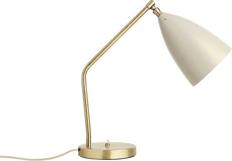 Contemporary Greta Magnusson Grossman 'Grasshopper' Table Lamp in Light Gray For Sale