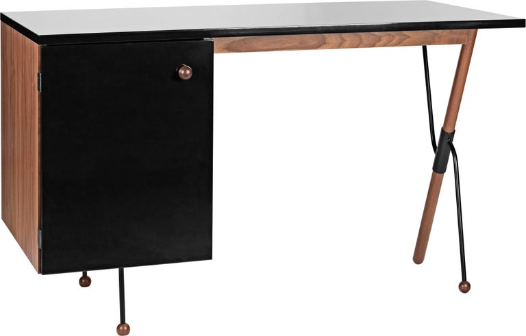 Greta Magnusson Grossman Series 62 desk. Designed by Grossman in 1952, but named the 62 desk as it was deemed to be ten years ahead of its time, this is an authorized re-edition by Gubi of Denmark who meticulously reproduces her work with scrupulous