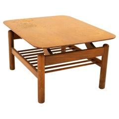Greta Magnusson Grossman Style Mid Century Walnut End Table