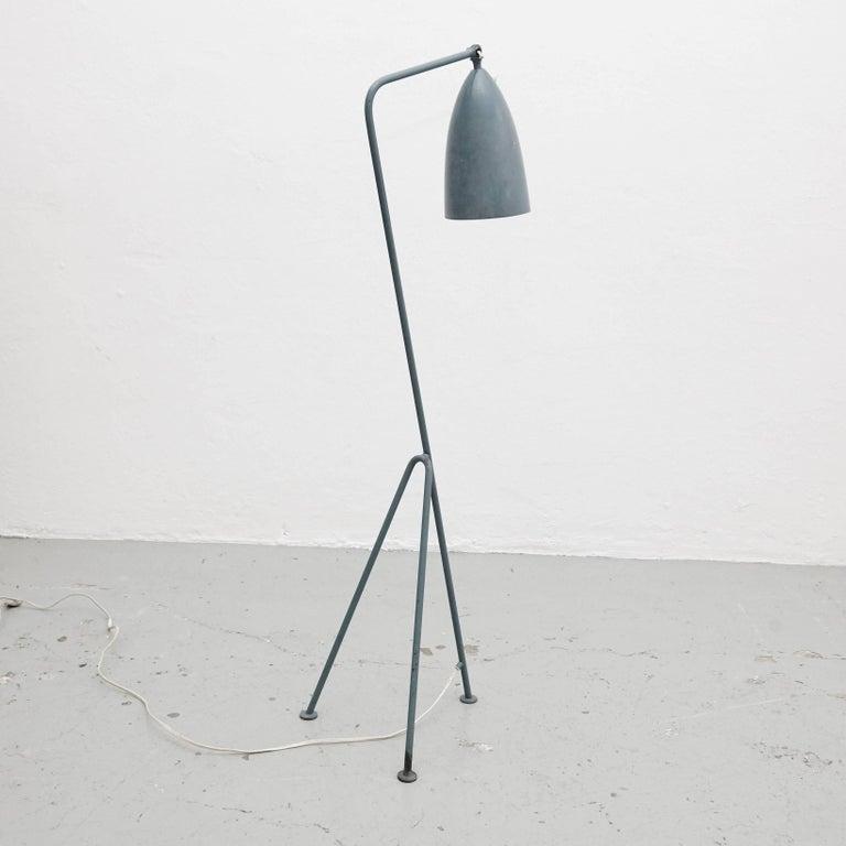 Greta Magnusson Mid-Century Modern Blue Metal