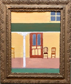 New Yorker magazine Cover Oil Painting New England Porch Scene
