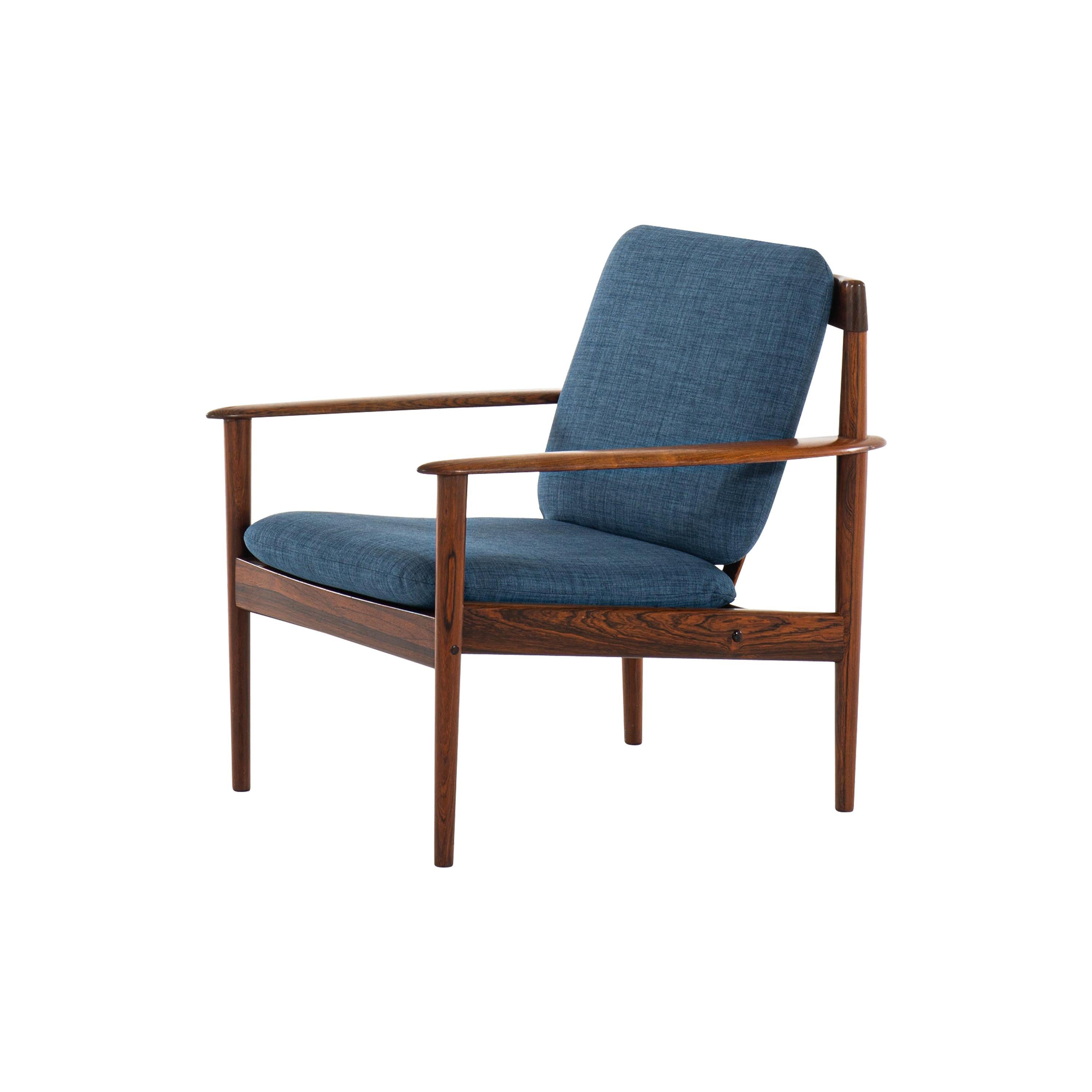 Grete Jalk Easy Chairs Model 56 in Rosewood by P. Jeppesens Møbelfabrik