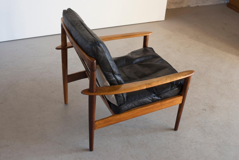 20th Century Grete Jalk Easy Chairs of Rosewood For Sale