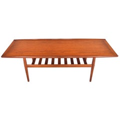 Grete Jalk for Glostrup Coffee Table in Teak