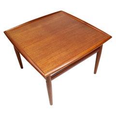 Grete Jalk for Glostrup Møbelfabrik Square Danish Teak Side Table