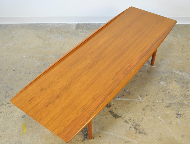 Grete Jalk for Poul Jeppesen Teak Surfboard Coffee Table 4