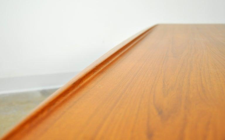 Grete Jalk for Poul Jeppesen Teak Surfboard Coffee Table 8
