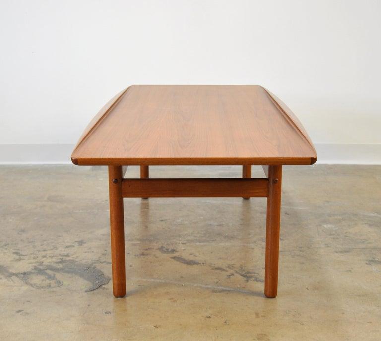 Danish Grete Jalk for Poul Jeppesen Teak Surfboard Coffee Table