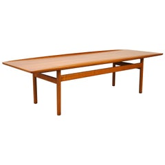 Grete Jalk for Poul Jeppesen Teak Surfboard Coffee Table