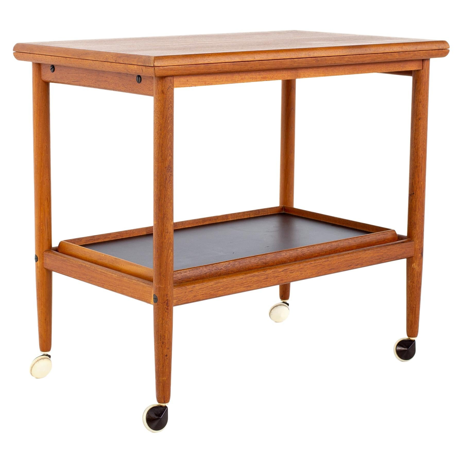 Grete Jalk Mid Century Danish Teak Bar Cart