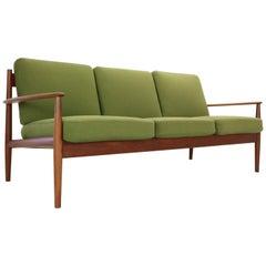 Grete Jalk Model- 118 Three-Seat Teak Sofa for France & Son, Denmark, 1963