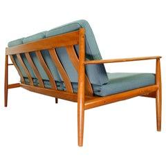 Grete Jalk Model 118 Three-Seat Teak Sofa for France & Son, Denmark, 1963