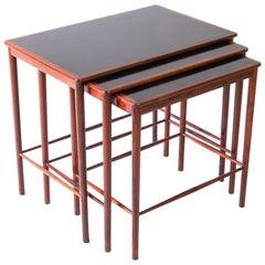 Grete Jalk Rosewood Nesting Tables by Poul Jeppesen, Denmark, 1959