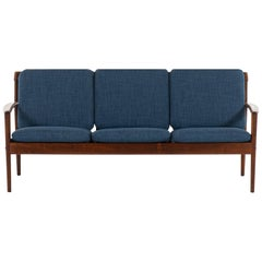 Grete Jalk Sofa Model 56 in Rosewood by P. Jeppesens Møbelfabrik in Denmark