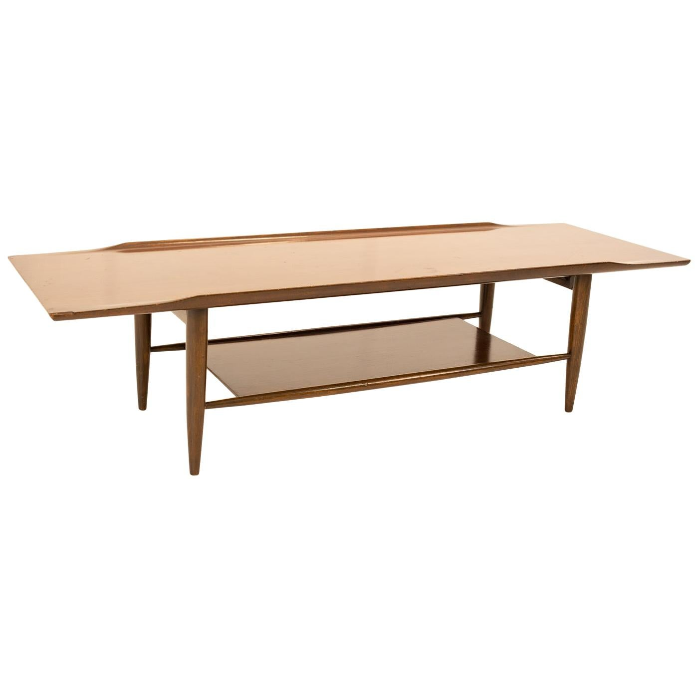 Grete Jalk Style Mid Century Walnut Coffee Table