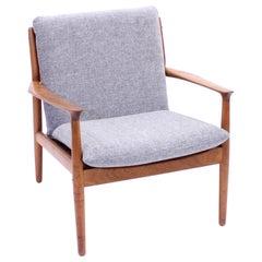Grete Jalk, Teak Easy Chair, Glostrup Møbelfabrik, 1950s