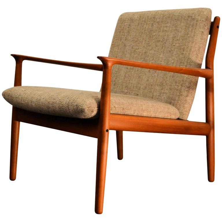 Grete Jalk Teak Lounge Chair At 1stdibs