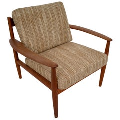 Grete Jalk Teak Scandinavian Modern Lounge Chair for France & Søn, 1960s