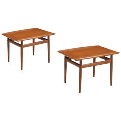Grete Jalk Teak Side Tables for Glostrup Møbelfabrik