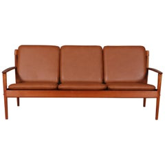 Grete Jalk Three-Seat Sofa, Teak