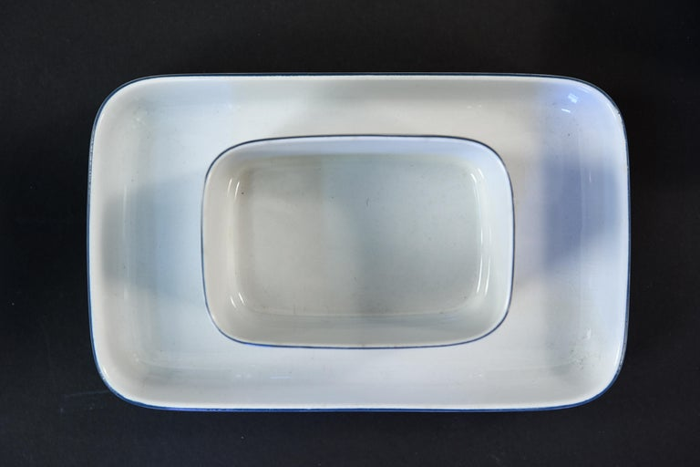 Grethe Meyer Blue Line Faiance Aluminia Service for Eight For Sale 1