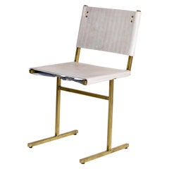 Grey and Brass Memento Chair, Jesse Sanderson