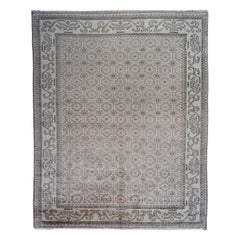Grey and Ivory Transitional Wool Area Rug