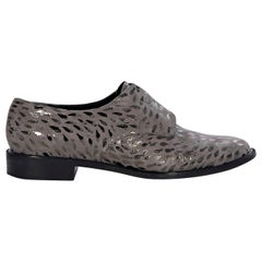 Robert Clergerie Grey And Metallic Suede Oxford Shoes