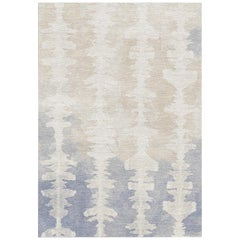 Grey and Off-White Handmade Wool Rug from Inkblot Collection by Gordian