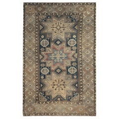 Grey Area Rugs for Sale, Antique Rugs Caucasian Carpet, Wool Living Room Rugs