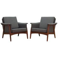 Grey Armchair Vintage Danish Design, 1960s