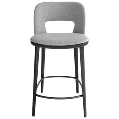 In Stock in Los Angeles, Grey Bar Stool by Carlesi Tonelli, Made in Italy