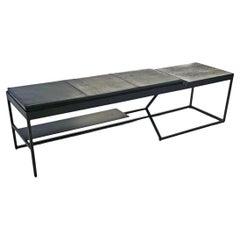 Grey Bird Bench, Concrete + Steel Collection from Joshua Howe Design