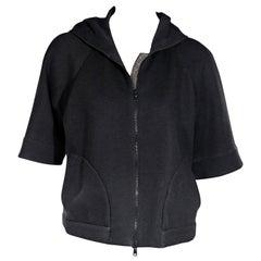 Grey Brunello Cucinelli Short-Sleeve Hoodie