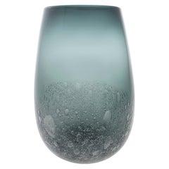 Grey Bubble Barrel Vase