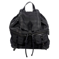 Grey Burberry Plaid Backpack