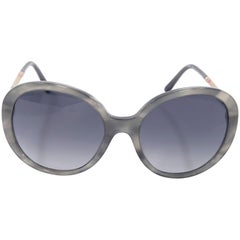 Grey Burberry Tortoise Shell Round Sunglasses