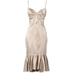 Grey bustier dress with gold lurex stitching Just Cavalli