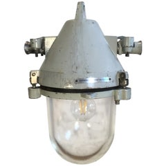 Grey Industrial Cast Aluminium Explosion Proof Lamp, 1960s