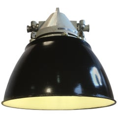 Grey Cast Aluminium Explosion Proof Lamp with Black Enamelled Shade