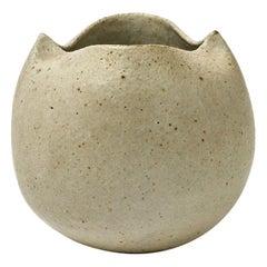 Grey Ceramic Pottery Handmade Vase Designed by M Leveque Midcentury Design