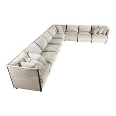 Grey 'Char-a-Banc' Modular Sectional Sofa by Mario Bellini for Cassina