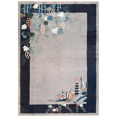 Grey Chinese Art Deco Rug
