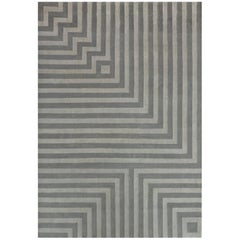 Grey Cream Black Neutral Wool Rug by Cecilia Setterdahl for Carpets CC