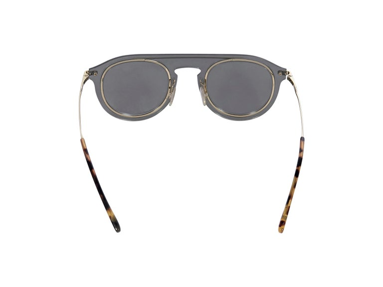 Gray Dolce & Gabbana Grey Mirrored Metal Frame Sunglasses For Sale