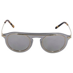 Dolce & Gabbana Grey Mirrored Metal Frame Sunglasses